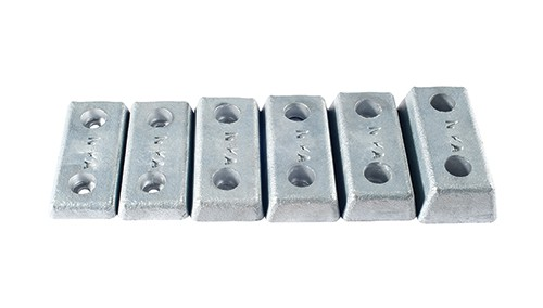 bolted zinc hull anodes 500
