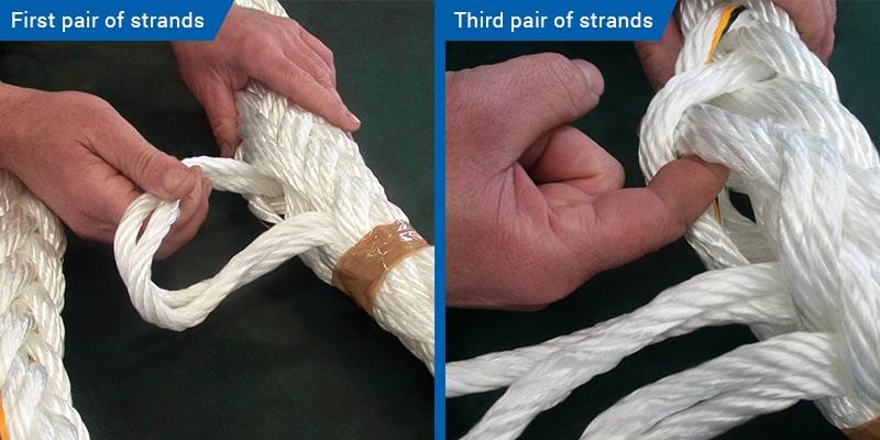 Unbraid 24-strand rope visual instructions